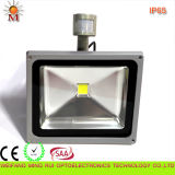 Ce / RoHS / SAA / Water Proof / 20W LED Flood Light avec capteur de mouvement