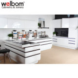 2015 Welbom Moderno PVC Gabinetes Blancos de Cocina para Remodelar