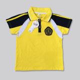 女の子および男の子のポロシャツはロゴの学生服をカスタマイズする