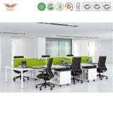 現代オフィス用家具L形の事務机2のシートのオフィスワークステーション
