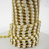 Atacado Rhinestone Cup Chain, Rhinestone Chain Gold, Shoe Accessories