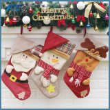 Чулок подарка украшения чулка рождества лося