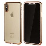 iPhone Xのための電気めっきTPUの携帯電話の箱