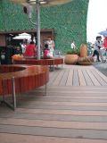 Decking de 146*23mm WPC, Decking, composto plástico de madeira (LHMA076)