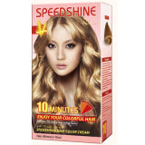 Do creme permanente da cor do cabelo de um Speedshine de 10 minutos Blonde médio