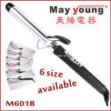 M601b Chrome Barril Pantalla LCD tiene función de temporizador Rizador de pelo