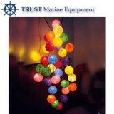 Cordão decorativo multicolor de luz de LED para bola de algodão multicolor