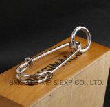 O Brooch Handmade da dedução do xaile da promoção da forma fixa o aço inoxidável do Lapel