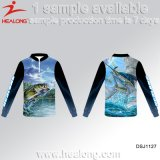Healong China Hersteller-Kleid-Gang-Sublimation-Fischen-Jersey-Hemden