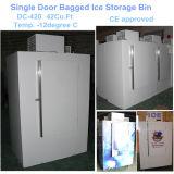 Одиночной твердой положенный в мешки дверью бункер льда для льда 125bags