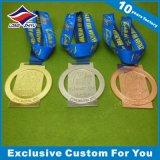 Quadratische hängende Medaillen-Preis-Bronzemedaille