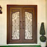 Schöne handgemachte Sicherheits-Eisen-Haustür mit Glas