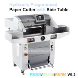 88mm de espesor 670x670mm Paper-Cut hidráulico automático programado las cuchillas de corte guillotina papel