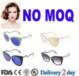 2016 Form italienisches Dseign Katzenauge-Azetat polarisierte Sonnenbrillen