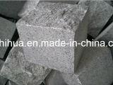 Темный серый цвет G654 вымощая камни гранита