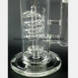 Tuyau d'eau en verre de 11 pouces de la spirale du tuyau de récupération du filtre de verre