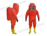 Tipo de pesados trajes de protección química (incluido el respirador de aire)