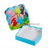 포장 서류상 모양 선물 상자를 인쇄하는 아이 수수께끼