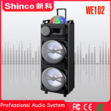 Spreker van het Karretje van de Karaoke Bluetooth van Shinco de Professionele met LEIDEN Licht