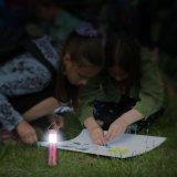 Lente de enfoque linterna plegable campamento de luz linterna camping linterna