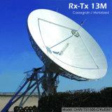 antenne de station terrestre de 13m Rx Tx (le Cassegrain)