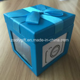Decorative Ribbon Paper Gift Box with Photo Windows Paper Box with Photo Frames