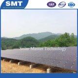 Painel Solar de película fina montada uma estrutura de montagem