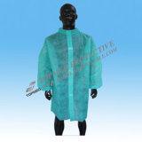 Manteau non-tissé jetable de laboratoire, manteaux jetables de laboratoire de polypropylène