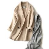Damenraglan-Hülsen-Tasten-Wolle-Mantel