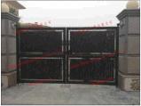 Usa hermosa decoración de soldado de la casa de hierro forjado galvanizado Main Gate/acero puerta de entrada