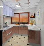 Gabinetes de cozinha do vidro Tempered