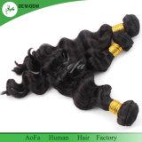 Trama brasiliana dei capelli del Virgin dell'onda allentata dei capelli umani dei fornitori di Guangzhou