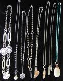 De lange Zilveren Halsband van de Ketting van de Leeswijzer van het Hart