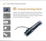 Multitarea recargables USB gran cantidad de lúmenes táctico, la caza, camping, Noche de caballo, linterna LED de luz exterior impermeable con linterna de luz LED CREE