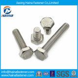 Parafusos cheios do hexágono do aço inoxidável da linha do estoque DIN933