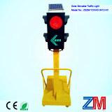 Cuatro semáforos portables del camino de los aspectos/movibles solares