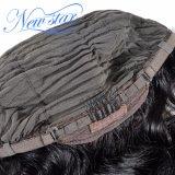 赤ん坊の毛のブラジルのRemyの毛ボディ波のかつらが付いている完全なレースの人間の毛髪