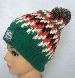 Способ 100%Acrylic греет шлем & шарф с сплетенной заплатой для клуба футбола (JYB360)