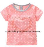가슴 아이들 옷에 사탕 과자 심혼을%s 가진 소녀의 여름 간결 소매 t-셔츠