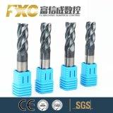 Bonne qualité HRC45 4 flûtes de carbure de carbure de moulin d'extrémité carrée