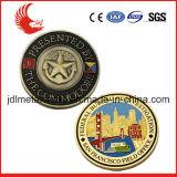 Pièces d'or de moulage personnalisées personnalisées en métal d'émail