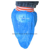 Rutschfester und Waterproof Hand-Made CPE Blue Shoe Cover