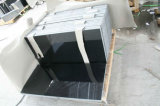 Mattonelle di pavimento più poco costose del granito del nero del granito della Cina 60X60X10cm