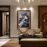Peinture de paysage de neige à la main de l'huile lourde d'effet de texture