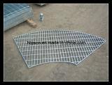 Reja de acero del uso en abanico especial de la plataforma