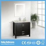 Meubles classiques de vente chauds de salle de bains en bois solide de modèle américain (BV120W)