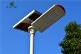 Tipo rachado luz de rua solar Integrated do diodo emissor de luz de 80W com telefone móvel APP (SNF-280)