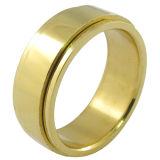 Joyas de acero inoxidable Hombres Gay Ring anillo chapado en oro.