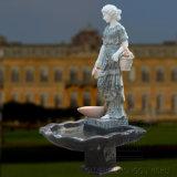 Fontana di acqua verde di marmo esterna della signora Statue di disegno popolare di arte grande