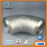 ステンレス鋼の肘90d Lrの管付属品の鋼鉄肘(KT0316)に合うバット溶接